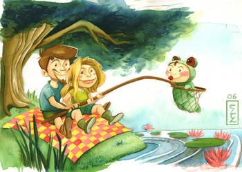 Clem la grenouille by Marmottegarou
