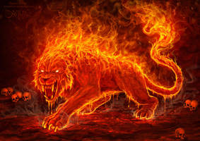 Flame Beast by amorphisss