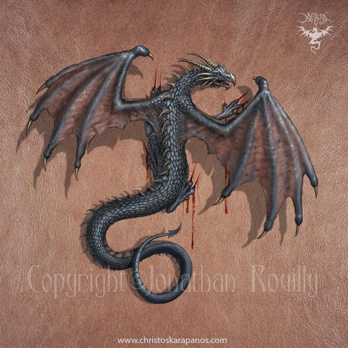 Dragon on my skin by amorphisss
