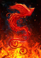 Phoenix design2 background by amorphisss