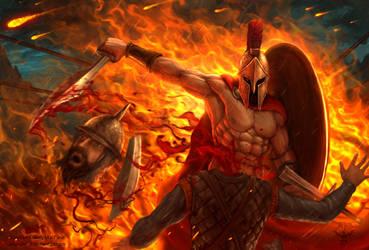 Spartan Killing Machine by amorphisss