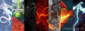 Dragons by amorphisss