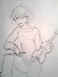Joseph and his Violin by Ani-Meg