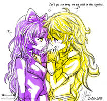 Q.S:- RWBY BumbleBee PinkyPromise color by TSubame-Arba-Del