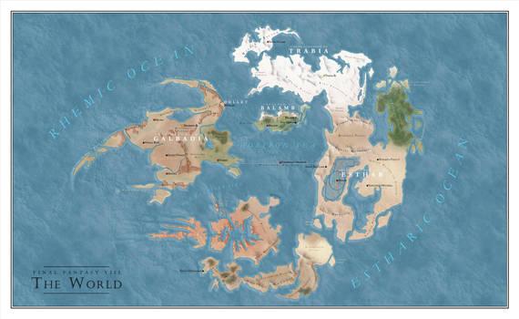 Final Fantasy VIII World map by SalesWorlds on DeviantArt