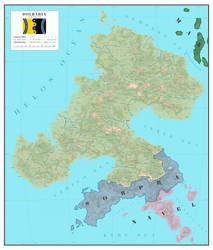 Dolbaria political map - World of Evol by SalesWorlds