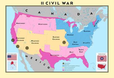 II American Civil War - Republic of Gilead vs USA by SalesWorlds
