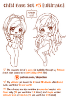 Chibi Pose Reference (Ultimate Chibi Base Set #5) by Nukababe