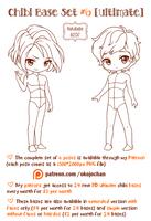 Chibi Pose Reference (Ultimate Chibi Base Set #6) by Nukababe