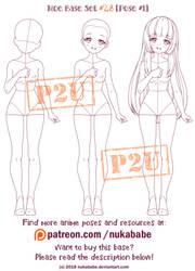 Female Pose Reference | P2U Base | Moe Reference by Nukababe