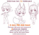 Chibi Pose Reference (Ultimate Chibi Base Set #47) by Nukababe