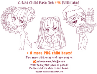 X-Mas Chibi Bases (Ultimate Chibi Base Set #48) by Nukababe