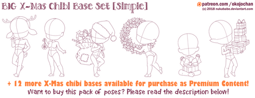 BIG X-Mas Chibi Base Pack (Simple) by Nukababe