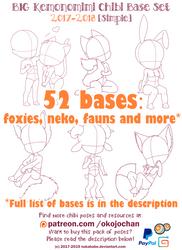 BIG Kemonomimi Chibi Base Set (Simple): $9.99 by Nukababe
