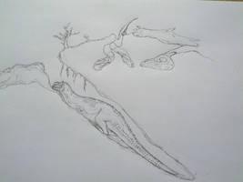Speculative paleoburrows sketch by paleosir