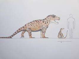 Anteosaurus by paleosir