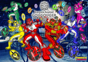 Enryuu Sentai GOUGOUGER wallpaper version by thunderyo