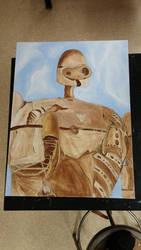 Meet the robot from Studio Ghibli by Hoovedstorys
