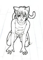 Poor Little Catboy by Caria
