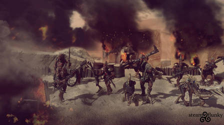 Kroot Raiding Party by steamflunky