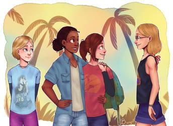 Naughty Dog Girls ! by Bwaarf