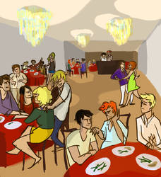 Dining Reunion by Hausinge