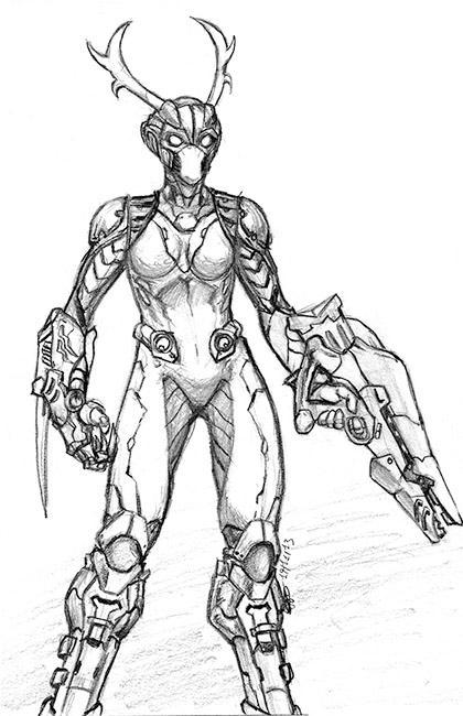 Sci-fi Deer by trantsiss