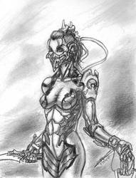 Sci-fi Ninja by trantsiss