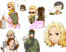 peace walker doodles by blacktenshi22