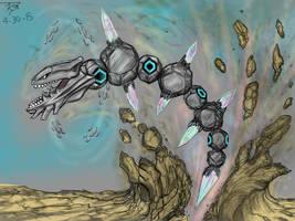 Mega Steelix Rising by Enneigard