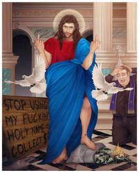 Jesus at the Temple by JonathanChanutomo