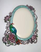 peacock frame stock by DemoncherryStock