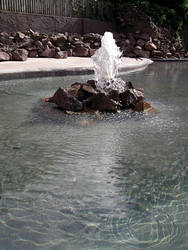 Rockery fountain stock by DemoncherryStock