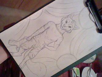 Furry wolf by Deashnat