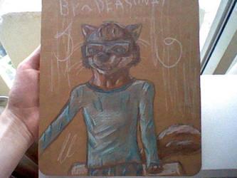 Wolf anthro by Deashnat