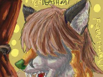 Fox fursona by Deashnat