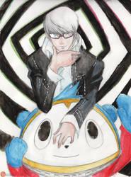 Persona 4 - Protagonist and Teddie by Megaman-EX