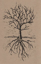 Black Tree and Roots by Incredzible