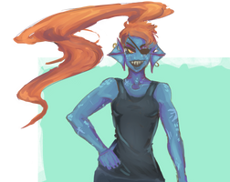 undyne by Kuin-Shi