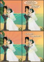Gwen x Trent Wedding Comic commission by qMargot