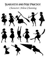 Silhouette and Pose Practice 01: Arlene Channing by Hnilmik