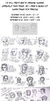 Human Faces Practice/Studies 2013 + 2014 by Hnilmik