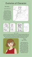 Character Evolution Meme - Arlene Channing by Hnilmik