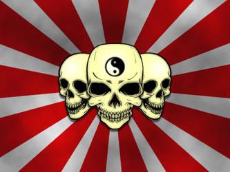 Blackberry Rising Sun Skulls by Namelessv1