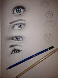 Eye practice by 88Hypnotist8