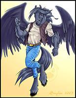 Blacksilver Pegasus Commission by lady-cybercat