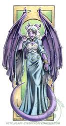 Purple Gargoyle Gal by lady-cybercat