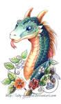 Flower Dragon by lady-cybercat