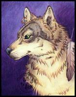 Grey Wolf by lady-cybercat