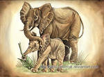 Elephant and child by lady-cybercat